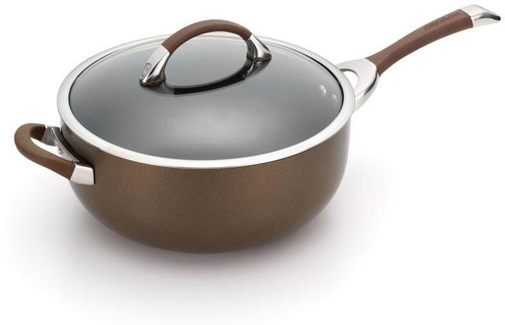 Circulon 6.5-qt. Symmetry Covered Chef Pan with Helper Handle, Chocolate