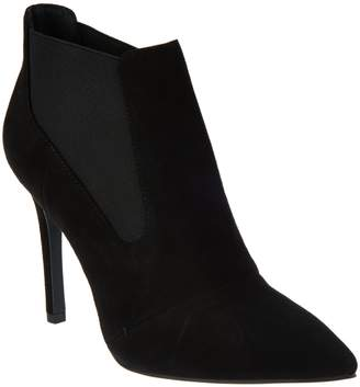 Halston H By H by Suede Pointed-toe High Heel Ankle Boots - Regina
