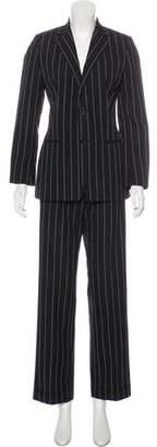 Ralph Lauren Black Label Wool Striped Pantsuit