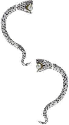 Saint Laurent Pearl Snake Earrings