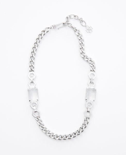 Ann Taylor Hexagon Sparkle Necklace