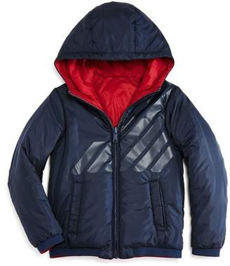 Armani Junior Boys' Reversible Hooded Jacket - Little Kid, Big Kid