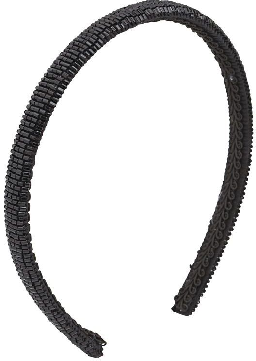DCNL Hair Accessories Black Beaded Headband