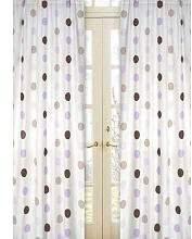 JoJo Designs Sweet Purple and Brown Mod Dots Window Treatment Panels -Set of 2