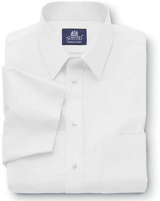 STAFFORD Stafford Travel Short-Sleeve Easy-Care Broadcloth Shirt-Big & Tall
