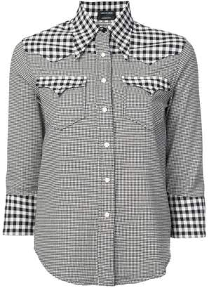 R 13 gingham and houndstooth shirt