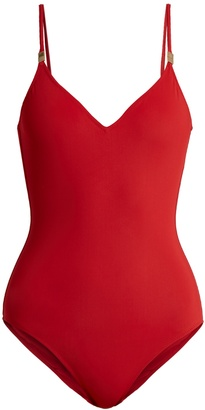 ON THE ISLAND Clip-front V-neck swimsuit