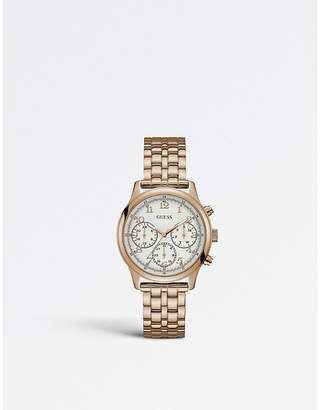 GUESS W1018L3 Taylor PVD rose gold-plated watch