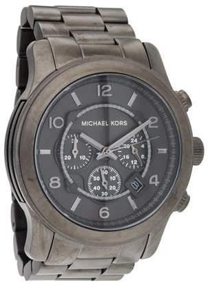 Michael Kors Runway Gunmetal Chronograph Watch