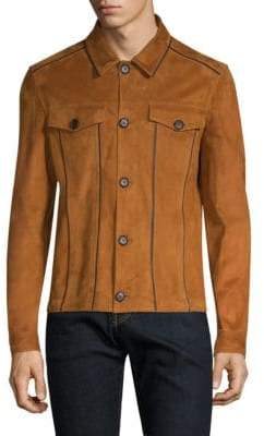 Salvatore Ferragamo Suede Trucker Jacket