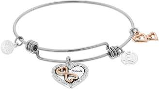 Forever Friends Love This Life love this life Rose Two Tone Bangle Bracelet