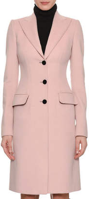 Dolce & Gabbana Peak-Lapel Three-Button 3/4-Length Coat