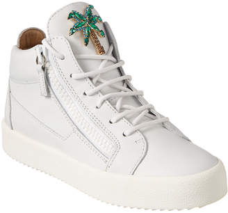 Giuseppe Zanotti Embellished Leather High-Top Sneaker