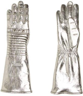 Calvin Klein Metallic Leather Gloves