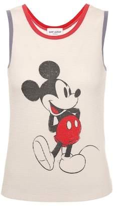 a05ac9334875ea Saint Laurent Mickey Mouse cotton tank top