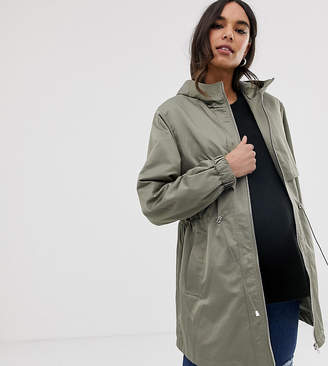 Asos DESIGN Maternity lightweight parka with jersey lining