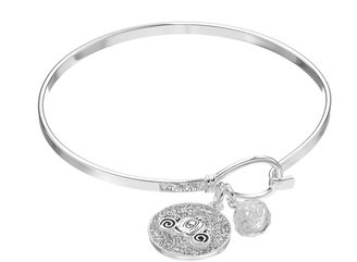Disney's Cinderella Crystal Inspirational Carriage Charm Bangle Bracelet $75 thestylecure.com