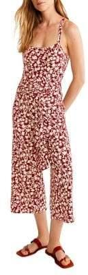 MANGO Floral Wide-Leg Jumpsuit