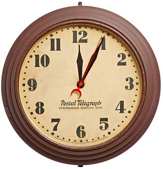 Rejuvenation Large Brown Postal Telegraph Clock