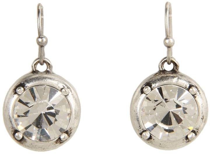 Jessica Simpson - Split Decision Silver Crystal Drop Earring