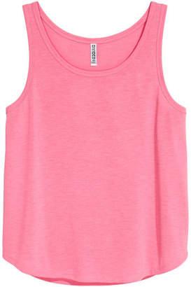 H&M Wide-cut Tank Top - Pink