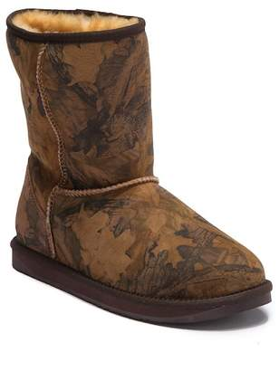 Australia Luxe Collective Cosy Short Forest Print Genuine Shearling Lined Boot