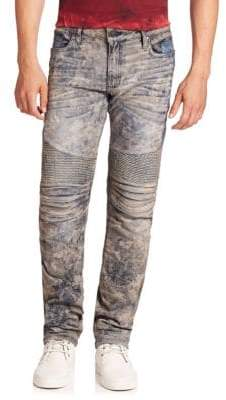 Fitted Six-Pocket Jeans