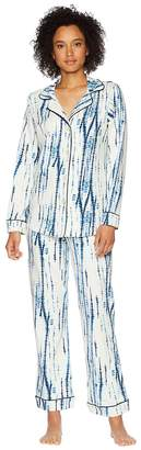 BedHead Indigo Dye Long Sleeve Shorts Pajama Set Women's Pajama Sets