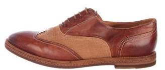 Paul Smith Wingtip Leather & Canvas Oxfords