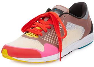 adidas by Stella McCartney Adizero Takumi Colorblock Sneaker, Pink $170 thestylecure.com