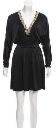 Halston Embellished Mini Dress