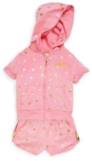 Juicy Couture Little Girl's Two-Piece Printed Hoodie and Shorts Set