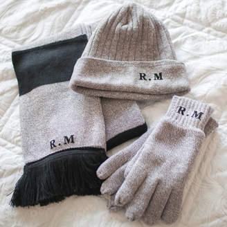 Rosie Willett Designs Personalised Initials Hat, Scarf And Gloves Set