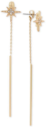 BCBGMAXAZRIA Gold-Tone Crystal Star & Stick Linear Drop Earrings