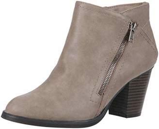 Rampage EDYN Womens Casual Block Heel Side Zipper Studded Ankle Bootie Boot