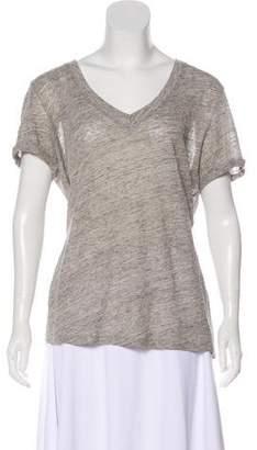Frame Linen V-Neck T-Shirt