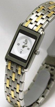 Concord コンコードDeliriumスチールと18 Kゴールド2.8 MM薄型レディース腕時計