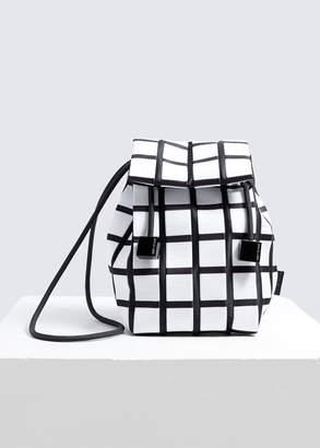 Issey Miyake Linear Knit Crossbody Bag