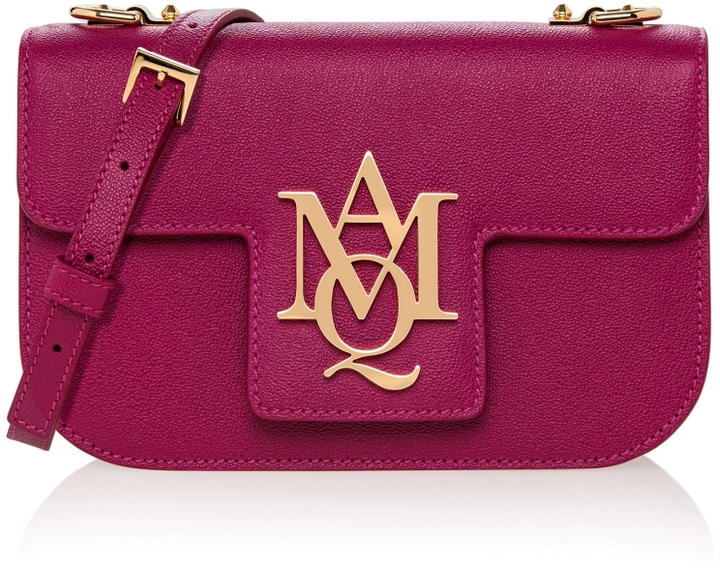 Alexander McQueen Insignia Textured-Leather Crossbody
