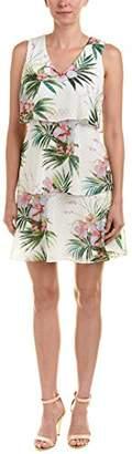 Donna Ricco Women's Tiered Clipped Dot Chiffon Print Dress