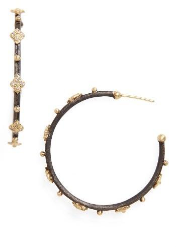 ArmentaWomen's Armenta Old World Diamond Hoop Earrings