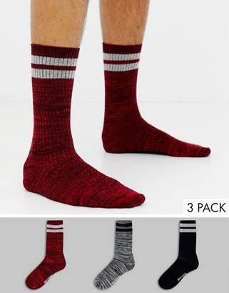 Ben Sherman 3 pack socks with stripe