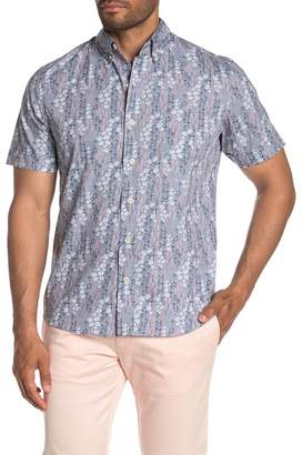 Kennington Desert Bloom Floral Short Sleeve Slim Fit Shirt