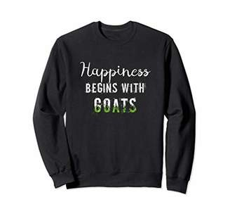 Happiness Begins With Goats | Goat Themed Shirts