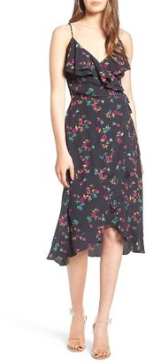 Women's Leith Flounce Wrap Midi Dress $65 thestylecure.com