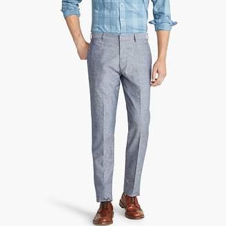 J.Crew Ludlow Classic-fit suit pant in blue-grey cotton-linen