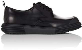 Prada Men's Wedge-Sole Leather Bluchers