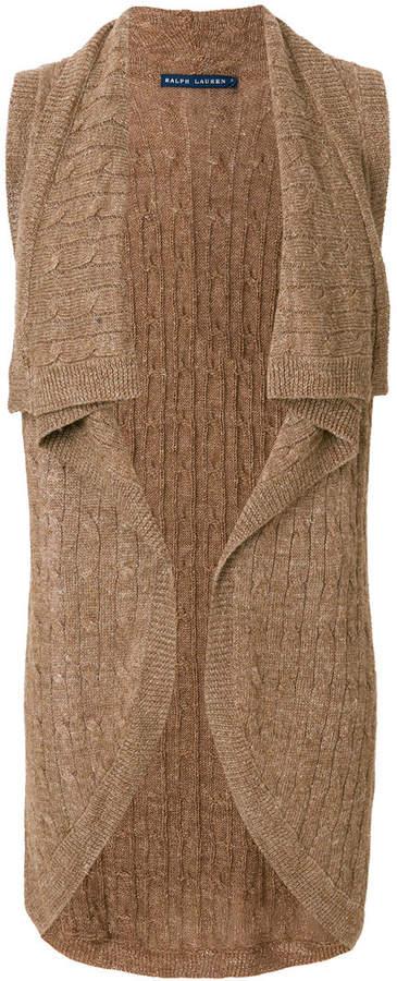 Ralph Lauren sleeveless knitted cardigan