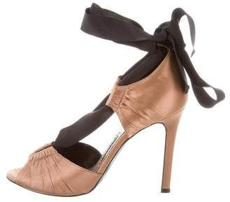Tom Ford Satin Lace-Up Pumps