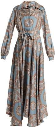 DAY Birger et Mikkelsen EDWARD CRUTCHLEY Tie-waist monkey-print silk dress